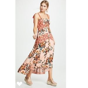 Free People Dresses - Free People | Lover Boy Maxi Dress In Coral Combo